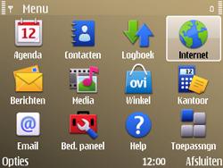 Nokia E72 - internet - hoe te internetten - stap 2