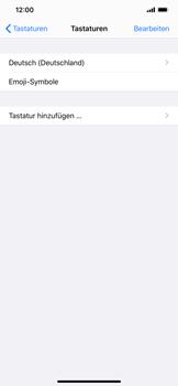 Apple iPhone XS Max - iOS 13 - Startanleitung - So fügen Sie eine Tastatursprache hinzu - Schritt 6