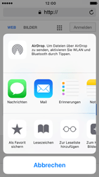 Apple iPhone 5c iOS 9 - Internet und Datenroaming - Verwenden des Internets - Schritt 6