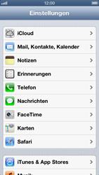 Apple iPhone 5 - Anrufe - Rufumleitungen setzen und löschen - Schritt 3