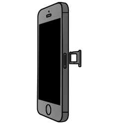 Apple iPhone 5S mit iOS 8 - SIM-Karte - Einlegen - Schritt 3