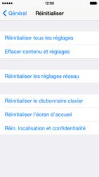 Apple iPhone 5s - iOS 8 - Téléphone mobile - Réinitialisation de la configuration d