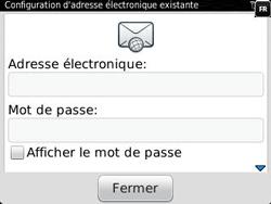 BlackBerry 9320 - E-mails - Ajouter ou modifier un compte e-mail - Étape 7