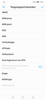 Huawei P Smart Plus - internet - handmatig instellen - stap 12