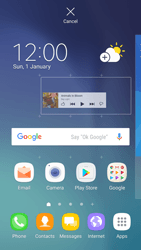 Samsung Galaxy S6 - Android Nougat - Getting started - Installing widgets and applications on your start screen - Step 6