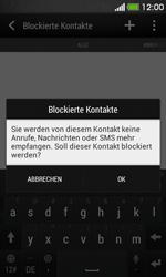 HTC Desire 500 - Anrufe - Anrufe blockieren - 9 / 11