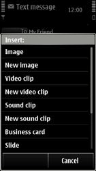 Nokia 500 - MMS - Sending pictures - Step 8