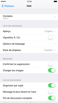 Apple Apple iPhone 6 Plus iOS 10 - E-mail - Configuration manuelle (yahoo) - Étape 9