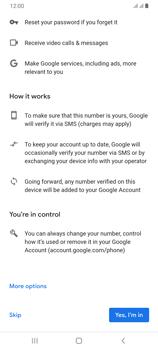 Samsung Galaxy A70 - Applications - Create an account - Step 13