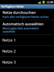 Samsung Galaxy Pocket - Netzwerk - Manuelle Netzwerkwahl - Schritt 9
