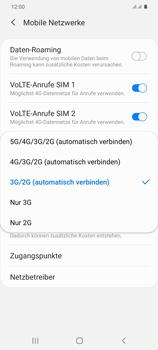 Samsung Galaxy S20 Plus 5G - Netzwerk - So aktivieren Sie eine 4G-Verbindung - Schritt 7