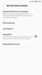 Samsung Galaxy S7 - Android Nougat - Anrufe - Rufumleitungen setzen und löschen - Schritt 7