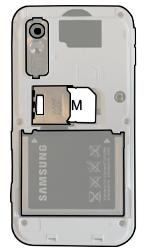 Samsung S5230 Star - SIM-Karte - Einlegen - Schritt 5