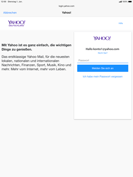 Apple iPad Air (2019) - iPadOS 13 - E-Mail - 032b. Email wizard - Yahoo - Schritt 7