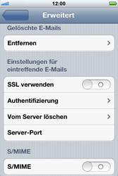 Apple iPhone 3GS - E-Mail - Konto einrichten - Schritt 17