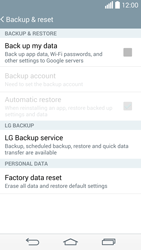 LG G3 - Mobile phone - Resetting to factory settings - Step 6