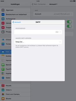 Apple iPad 2 iOS 8 - E-mail - Account instellen (IMAP met SMTP-verificatie) - Stap 22