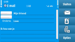 Nokia N97 - E-mail - e-mail versturen - Stap 9