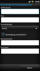 Sony Xperia U - E-Mail - Konto einrichten - Schritt 11
