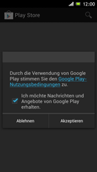 Sony Xperia J - Apps - Konto anlegen und einrichten - 14 / 16
