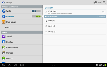 Samsung Galaxy Tab 2 10.1 - Bluetooth - Connecting devices - Step 6