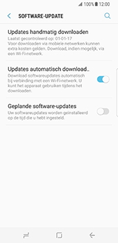 Samsung Galaxy S8 - software - update installeren zonder pc - stap 5