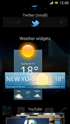 Sony Xperia J - Getting started - Installing widgets and applications on your start screen - Step 4