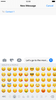 Apple Apple iPhone 6s Plus iOS 10 - iOS features - Send iMessage - Step 15