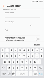 Samsung G920F Galaxy S6 - Android Nougat - E-mail - Manual configuration IMAP without SMTP verification - Step 13