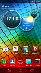 Motorola XT890 RAZR i - Apps - Konto anlegen und einrichten - Schritt 1
