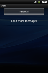 Sony Xperia Mini Pro - E-mail - Manual configuration - Step 4