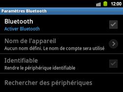 Samsung B5510 Galaxy TXT - Bluetooth - connexion Bluetooth - Étape 8