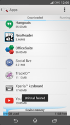 Sony Xperia Z1 - Applications - How to uninstall an app - Step 8