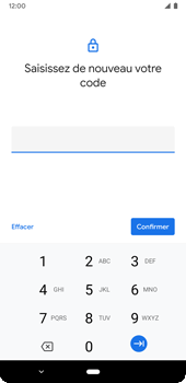 Google Pixel 3a - Sécuriser votre mobile - Activer le code de verrouillage - Étape 10