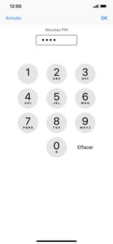 Apple iPhone XR - Sécuriser votre mobile - Personnaliser le code PIN de votre carte SIM - Étape 9