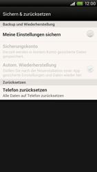 HTC One X Plus - Gerät - Zurücksetzen auf die Werkseinstellungen - Schritt 5