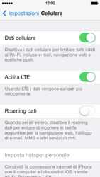 Apple iPhone 5 iOS 7 - Internet e roaming dati - Disattivazione del roaming dati - Fase 5