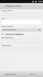 Sony Xperia S - E-mail - Configuration manuelle - Étape 12