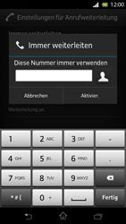 Sony Xperia T - Anrufe - Rufumleitungen setzen und löschen - Schritt 7