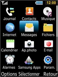 Samsung S5610 Primo - SMS - configuration manuelle - Étape 3