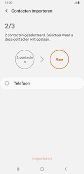 Samsung Galaxy S8+ - Android Pie (SM-G955F) - Contacten en data - Contacten kopiëren van SIM naar toestel - Stap 11