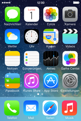 Apple iPhone 4 S mit iOS 7 - SMS - Manuelle Konfiguration - Schritt 1