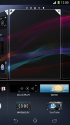 Sony Xperia Z1 Compact - Startanleitung - Installieren von Widgets und Apps auf der Startseite - Schritt 5