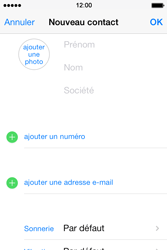 Apple iPhone 4S - Contact, Appels, SMS/MMS - Ajouter un contact - Étape 6