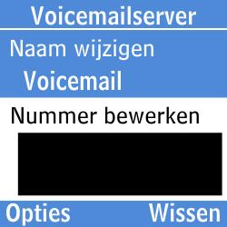 Samsung GT-E1200i - Voicemail - Handmatig instellen - Stap 9