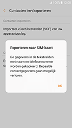 Samsung Galaxy A3 (2017) (SM-A320FL) - Contacten en data - Contacten kopiëren van toestel naar SIM - Stap 9