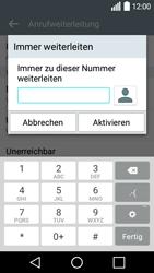 LG Leon - Anrufe - Rufumleitungen setzen und löschen - Schritt 8