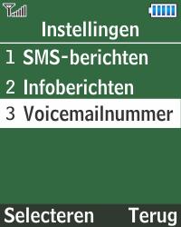 Samsung E1270 - Voicemail - Handmatig instellen - Stap 6