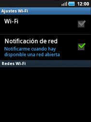 Samsung S5570 Galaxy Mini - WiFi - Conectarse a una red WiFi - Paso 6