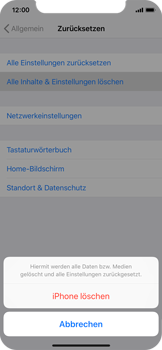 Apple iPhone XS - Fehlerbehebung - Handy zurücksetzen - Schritt 8